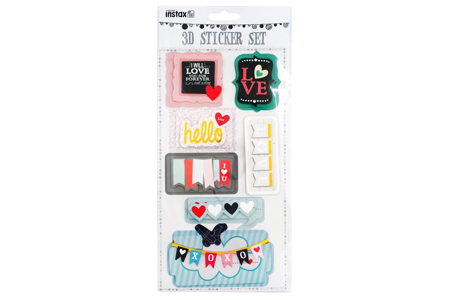 Fujifilm Instax Sticker Sheet | Hearts