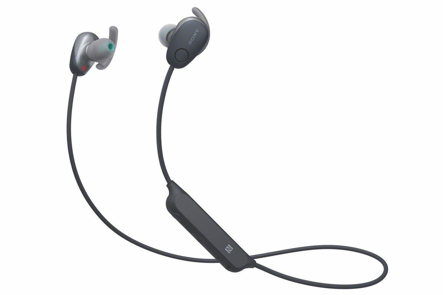 Sony WISP600NB.CE7 Wireless Sports Headphones with Noise Cancelling and IPX4 Splash Proof, 6 Hours Battery Life, Extra Bass Sound