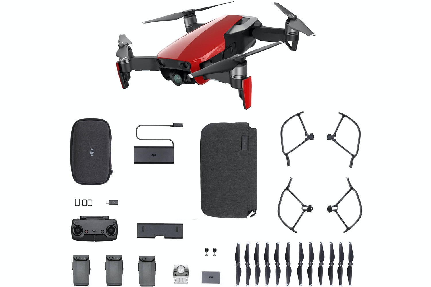 Mavic Air Fly More Combo | Flame Red