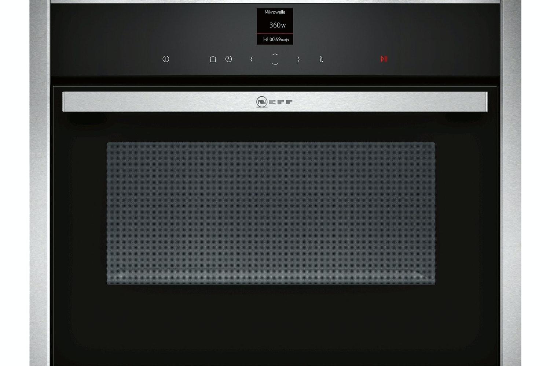 Neff 36L 900W Built In Microwave | C17UR02N0B | Black & Silver