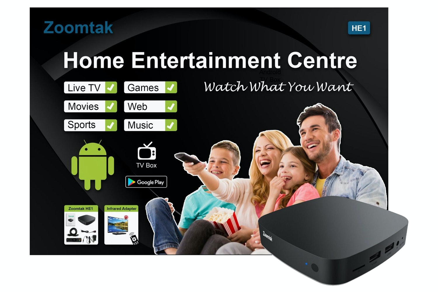 Zoomtak HE1 Android TV Box | 6.0
