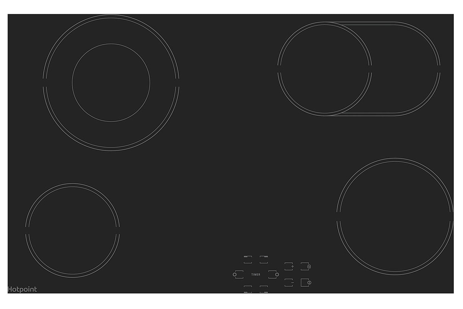Hotpoint 77cm Electric Ceramic Hob | HR724BH
