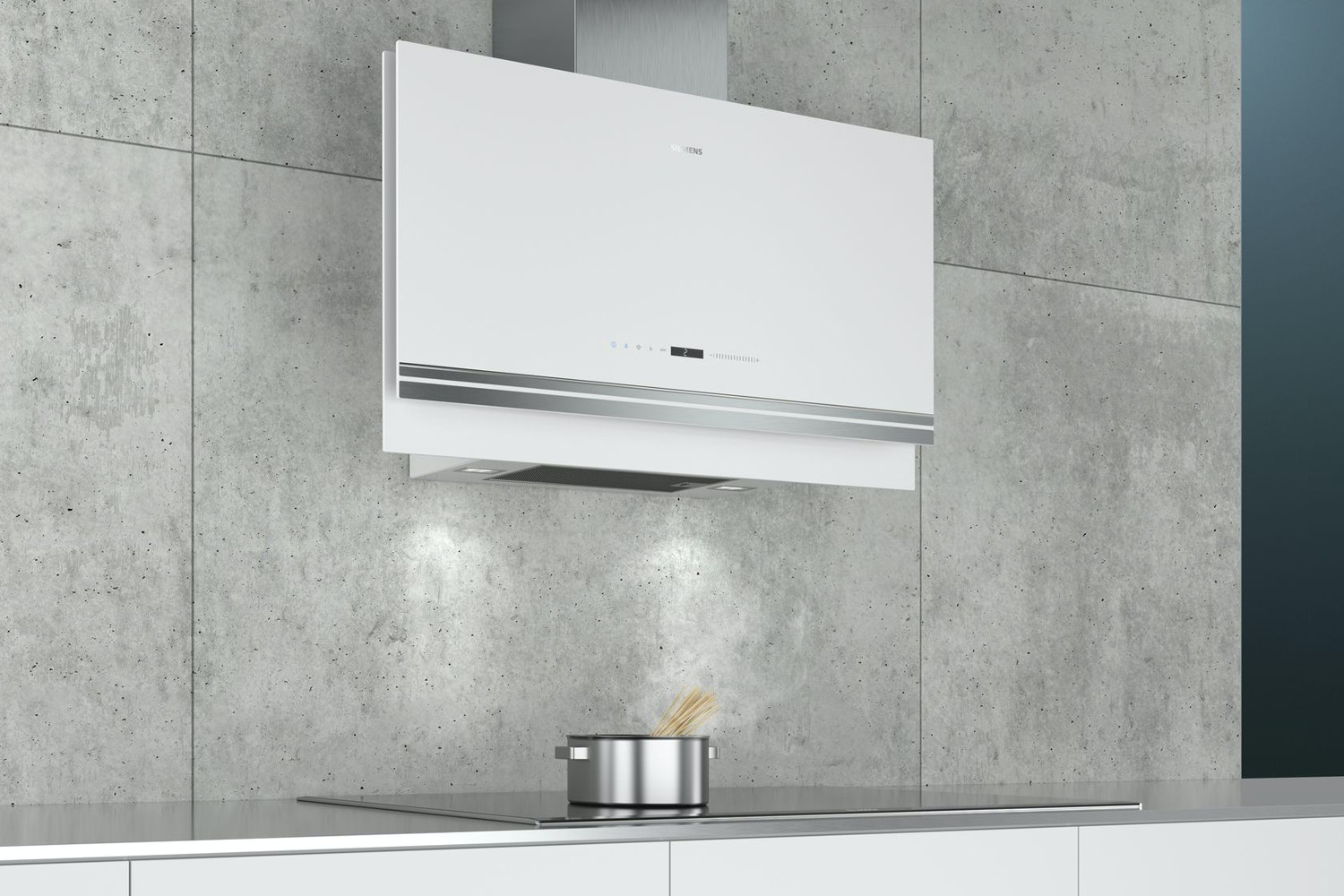 Siemens iQ700 90cm Slim Flat Glass Chimney Hood | LC97FVW20B