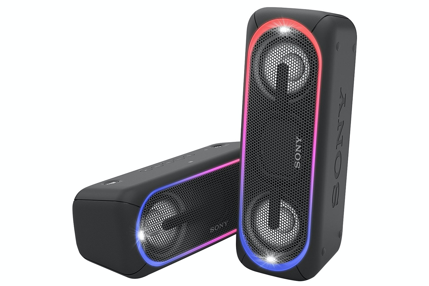 Sony SRSXB41B.EU8 Portable Waterproof Speaker with EXTRA BASS, 24 Hours Battery Life and Lighting Effects