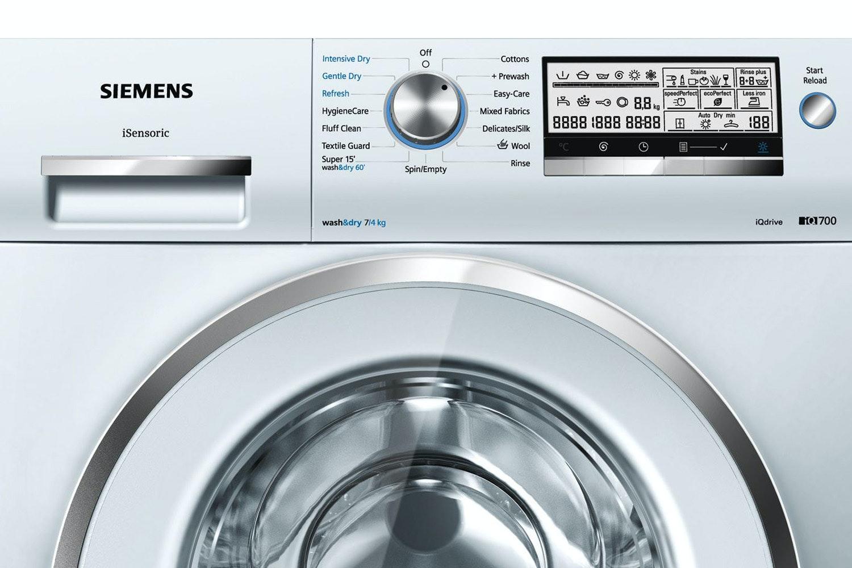 siemens 7kg iq700 automatic washer 4kg dryer wd15h520gb ireland rh harveynorman ie Washing Machine Shut Off Valve Bosch Washing Machine Replacement Parts