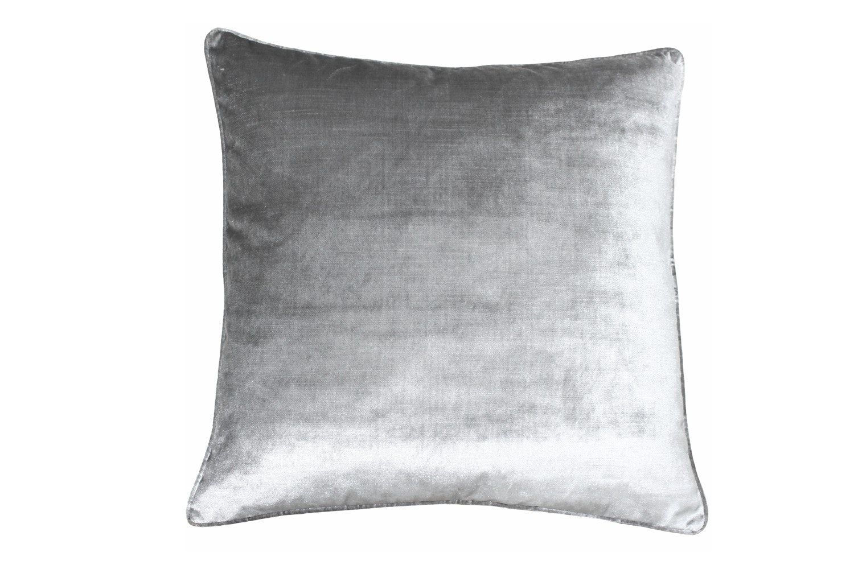 Velvet Luxe Silver Cushion | 55X55
