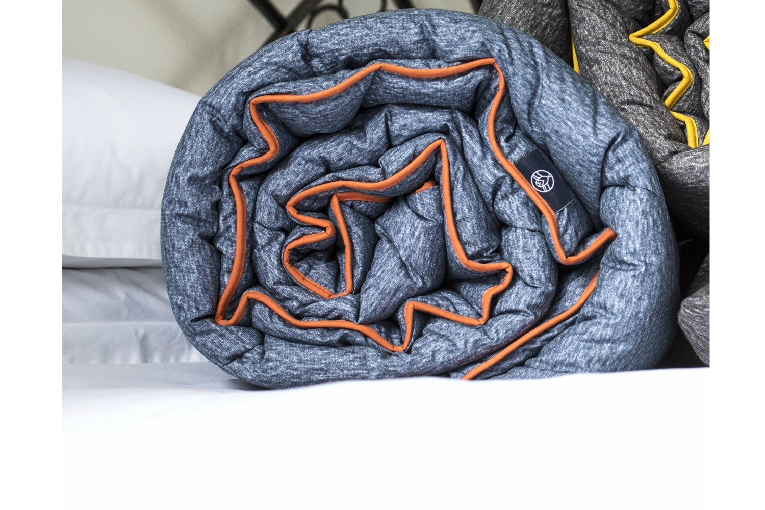 Printed Duvet 10.5 Tog | Denim&Orange | Single