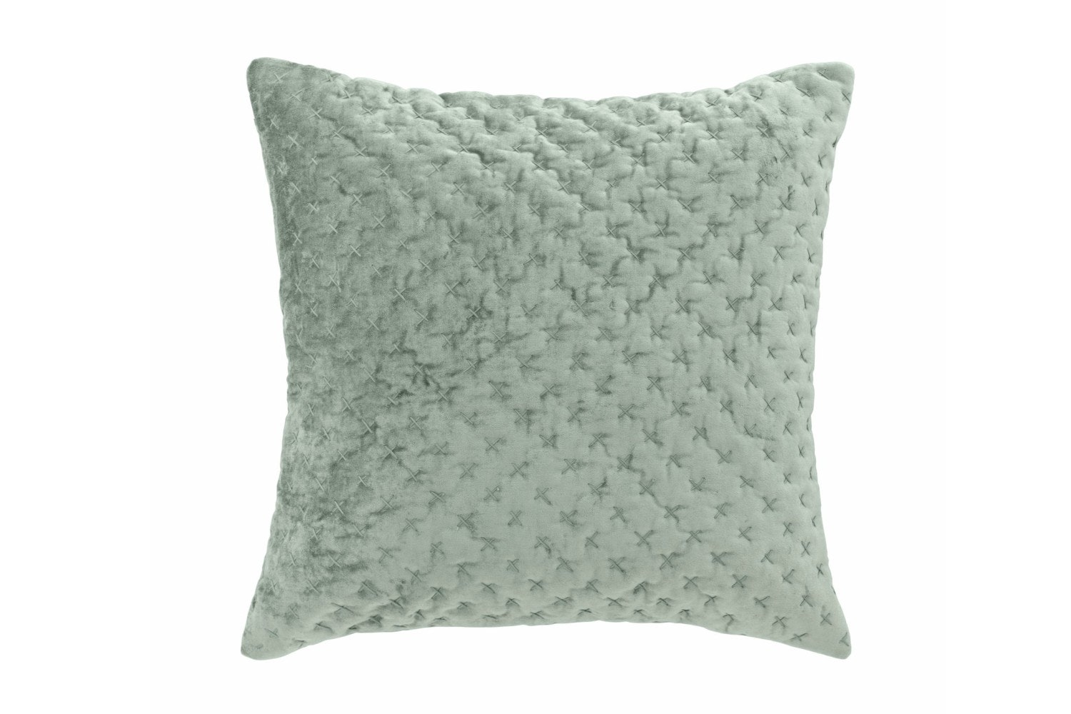 Velvet Embroidered Luxe Cushion | Moss