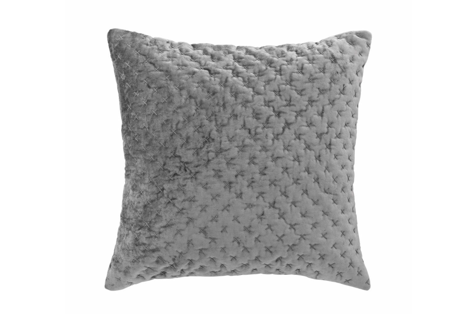 Velvet Embroidered Luxe Cushion | Mud