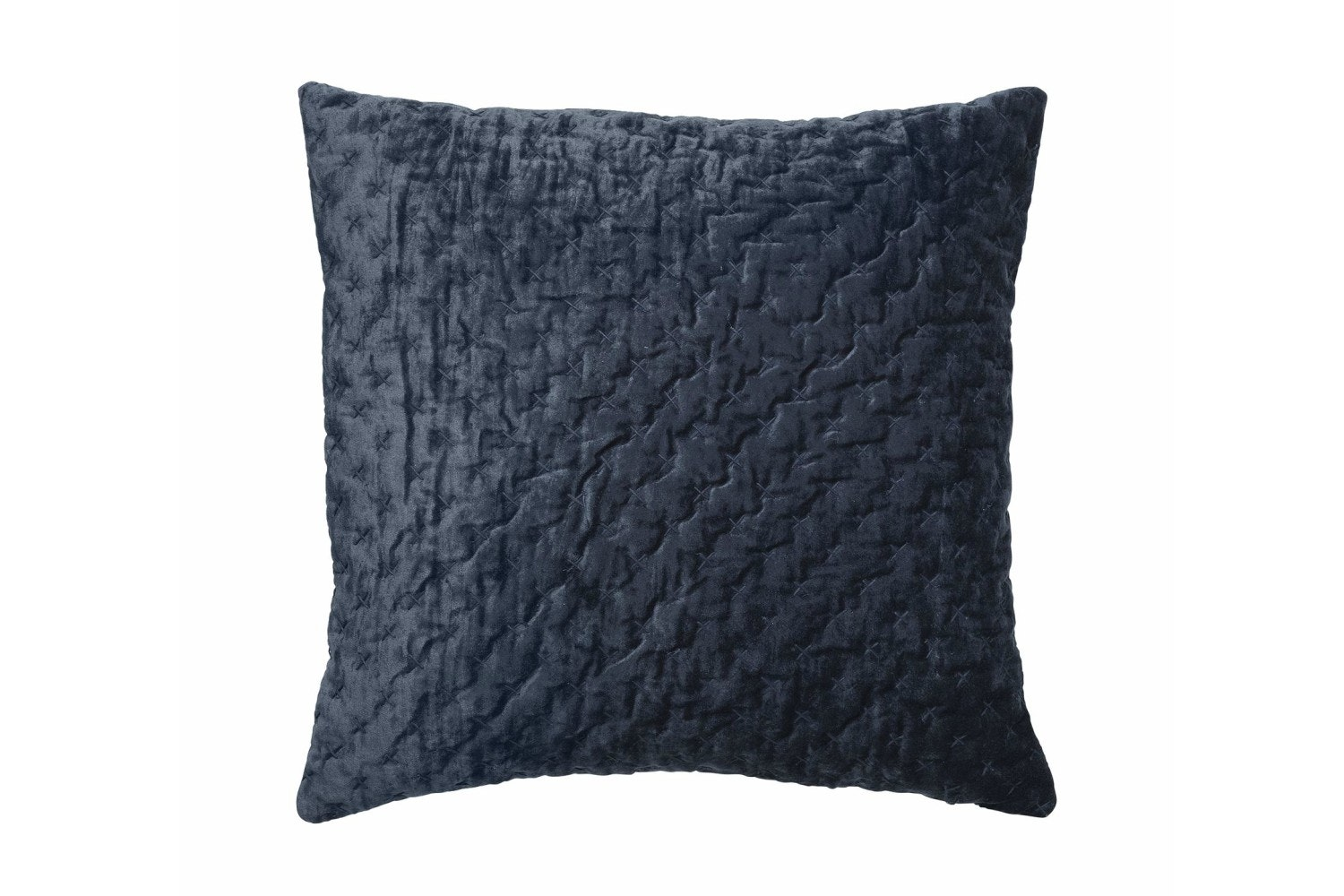 Velvet Embroidered Luxe Cushion | Royal Blue