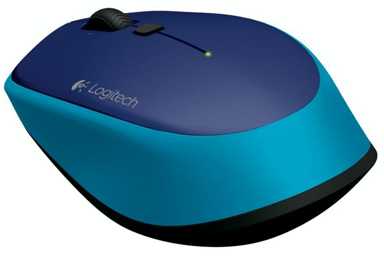 Logitech M335 Wireless Mouse   Blue