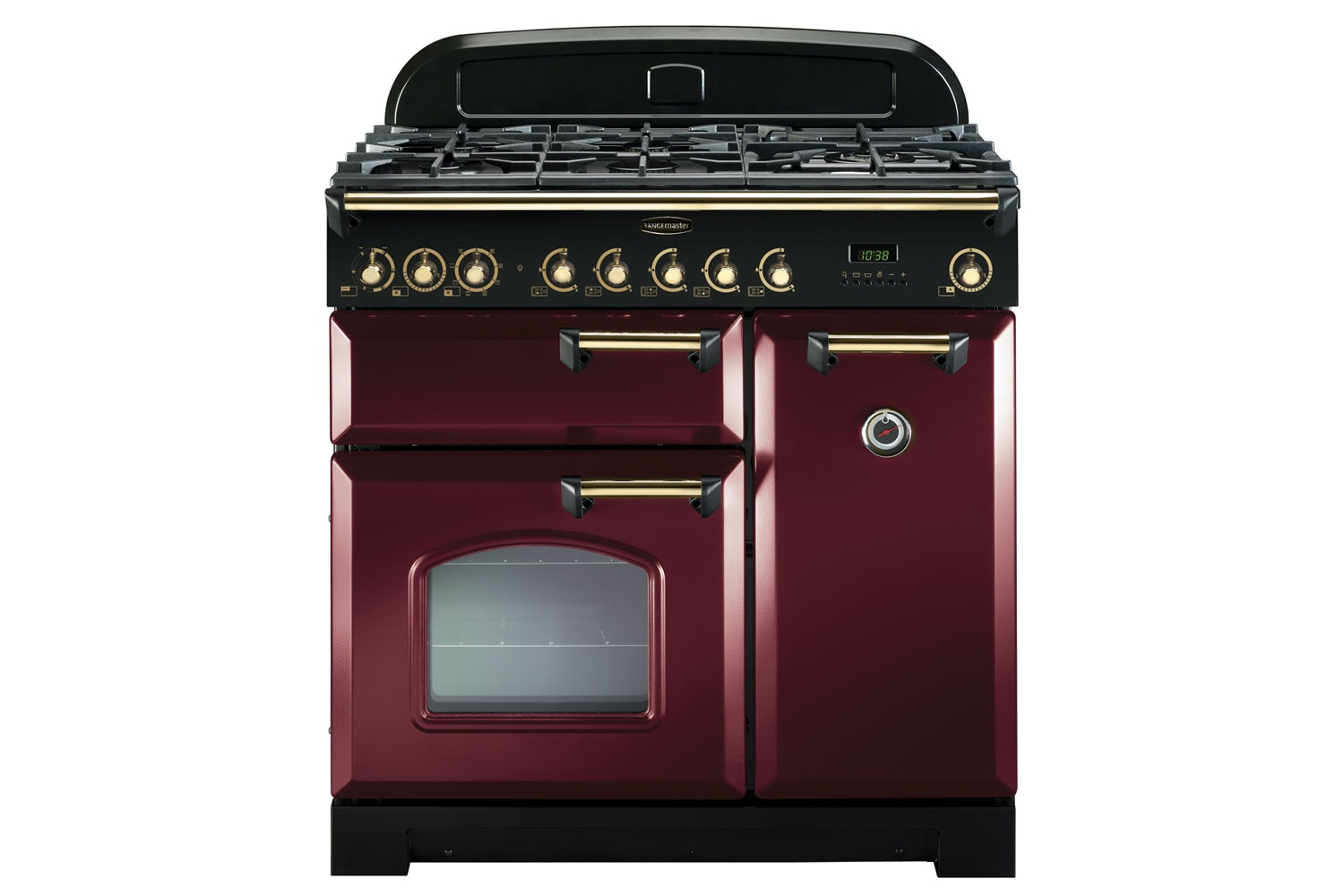 Rangemaster Classic Deluxe 90cm Dual Fuel Range Cooker | CDL90DFFCY/B | Cranberry