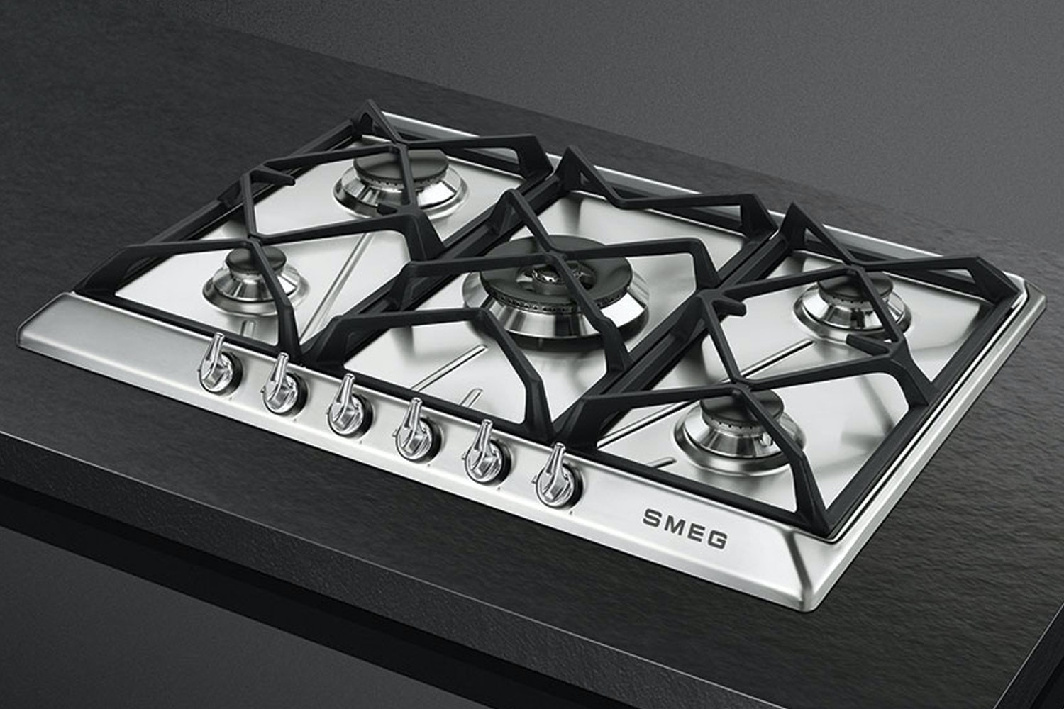 Smeg 70cm Victoria Aesthetic Gas Hob | Stainless Steel