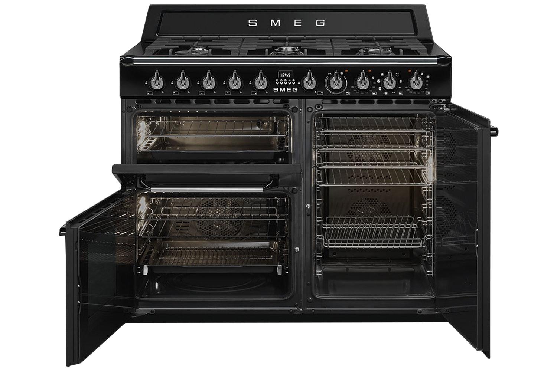 Smeg 100cm Dual Fuel Range Cooker | TR103BL | Black