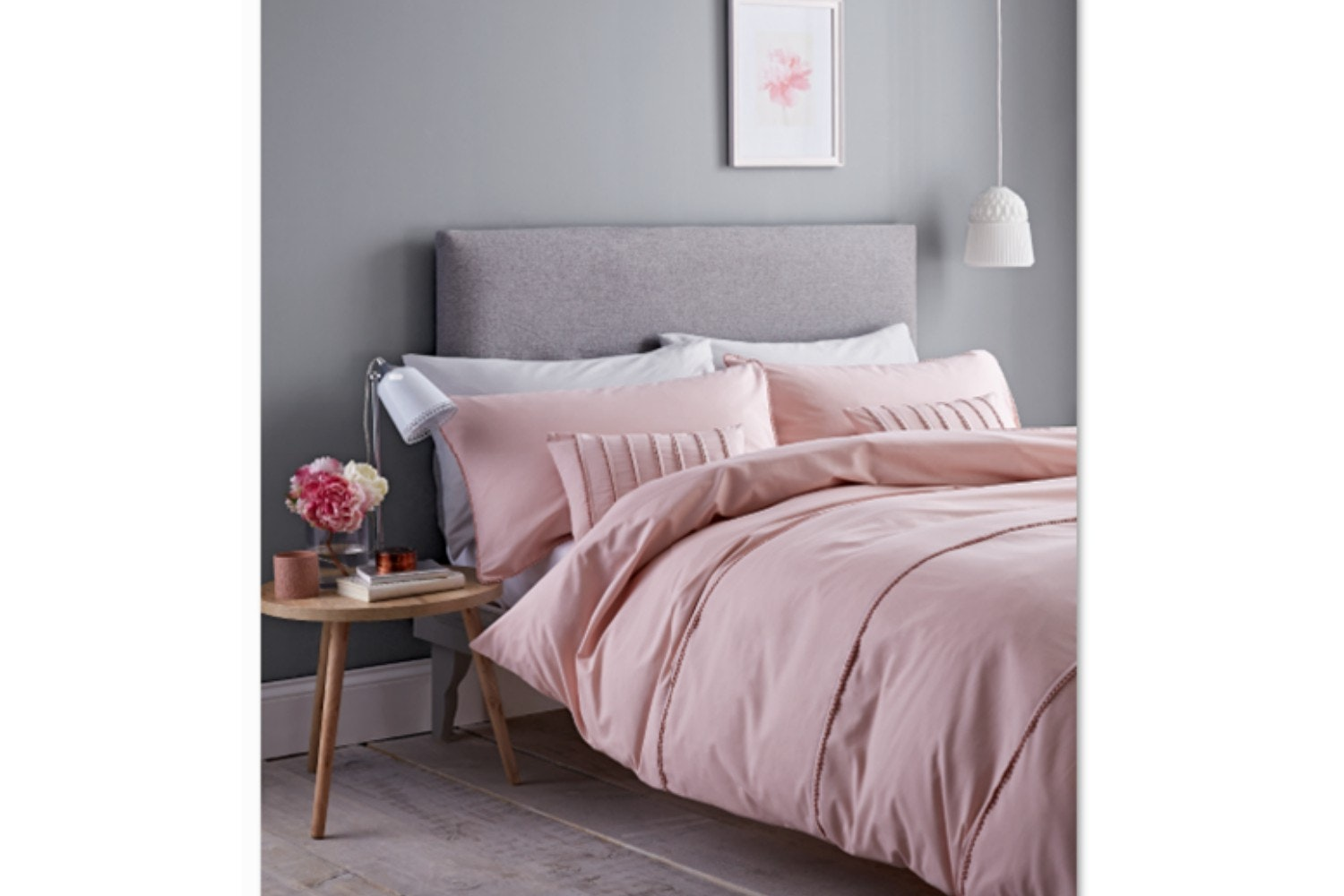 Pom Pom Blush King Duvet Set