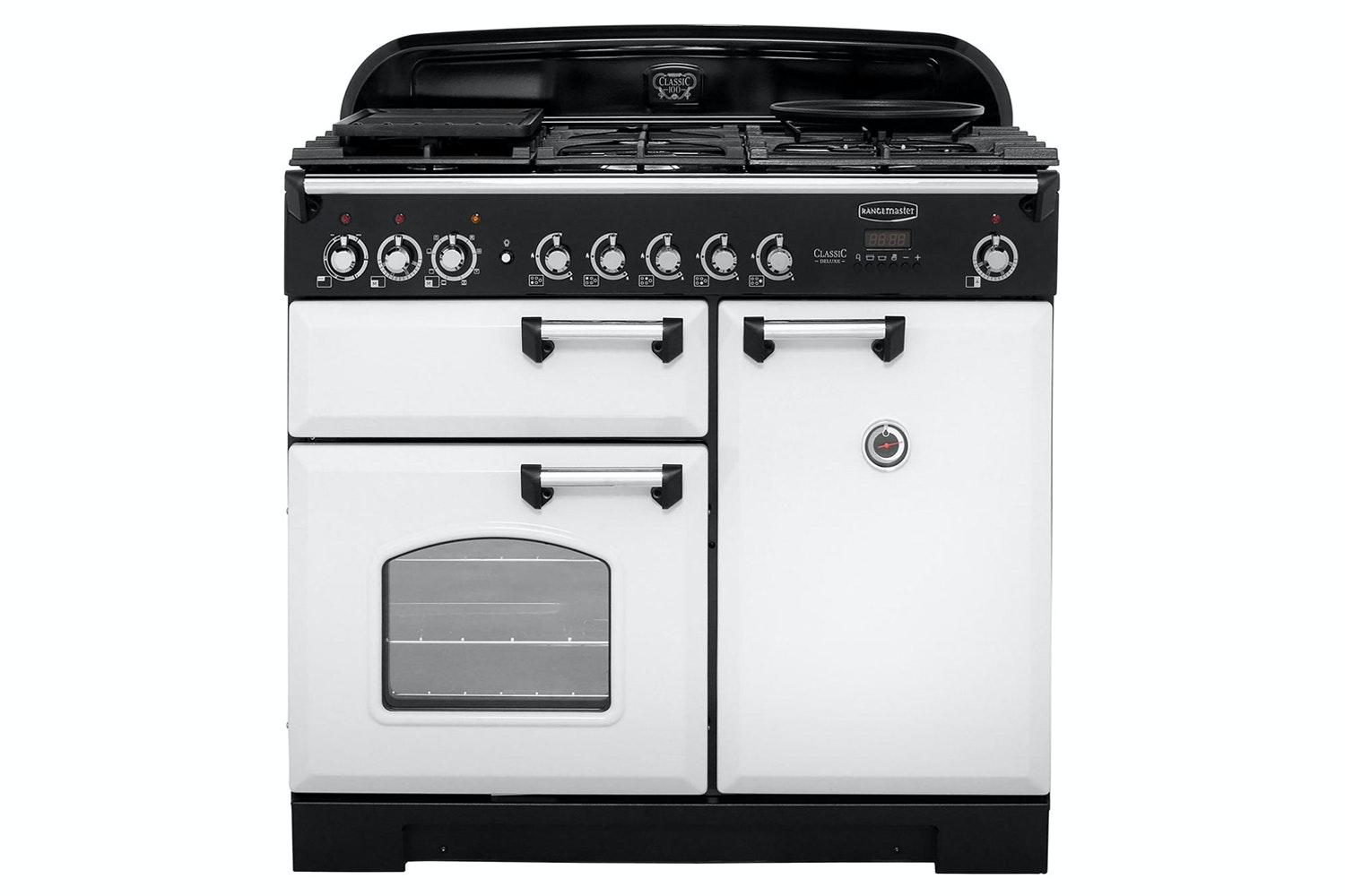 Rangemaster Classic Deluxe 100cm Dual Fuel Range Cooker | CDL100DFFRP/C | Royal Pearl