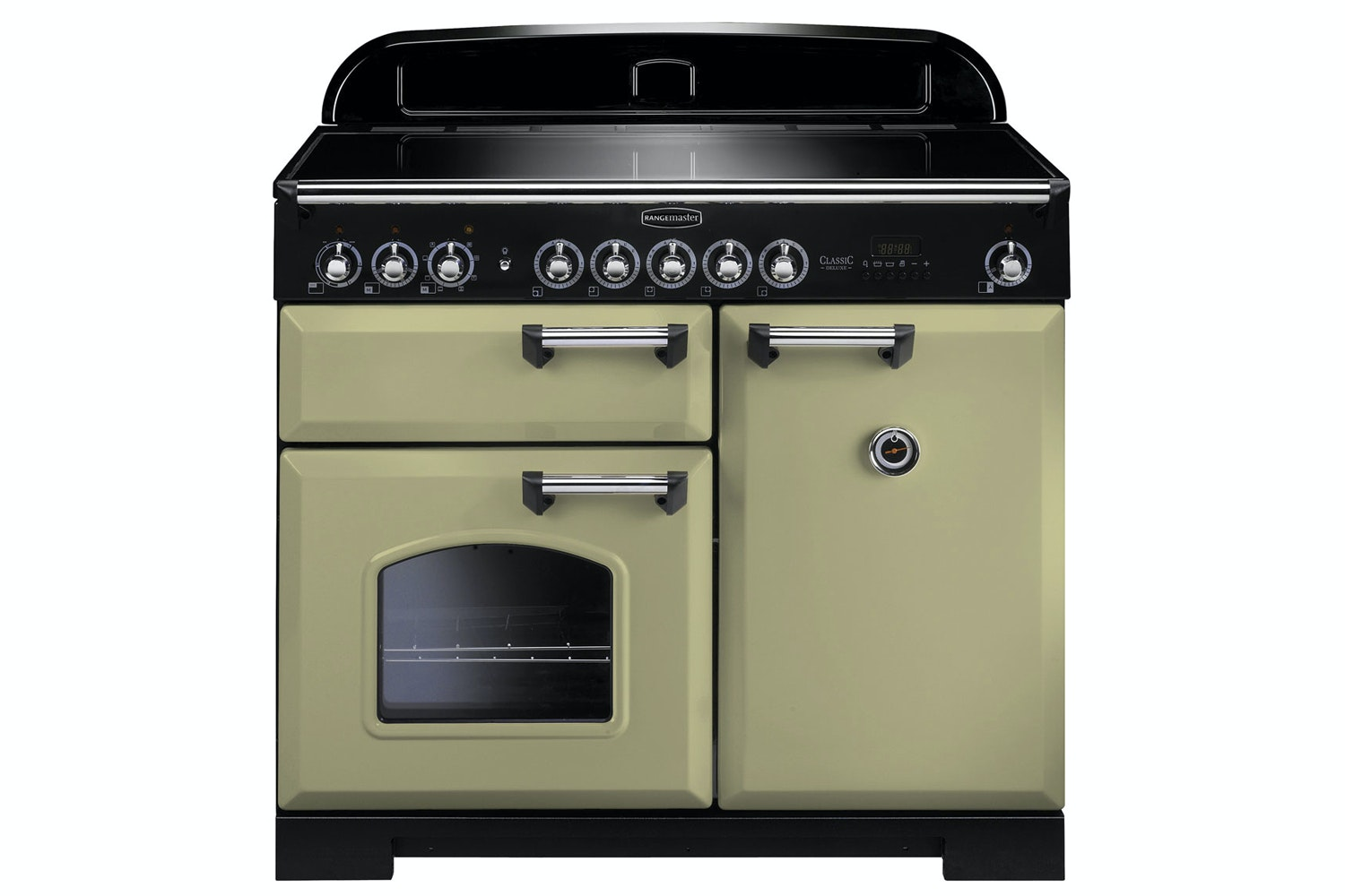 Rangemaster Classic Deluxe 100cm Induction Range Cooker | CDL100EIOG/C | Olive Green