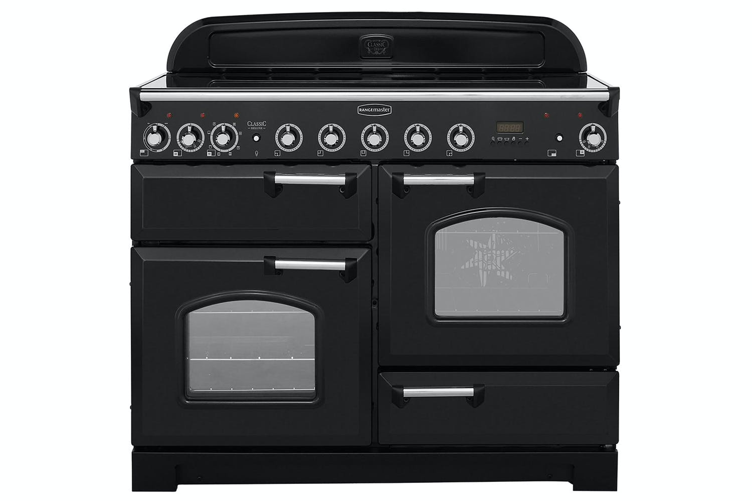 Rangemaster 110cm Classic Deluxe Induction Range Cooker Cdl110eibl Simple Heater Circuit Hot Plate C Black