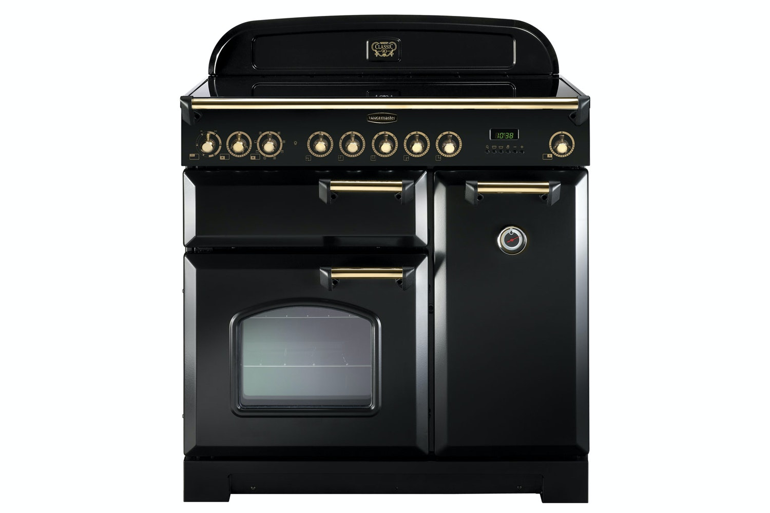 Rangemaster Classic Deluxe 90cm Electric Range Cooker | CDL90EIBL/B | Black