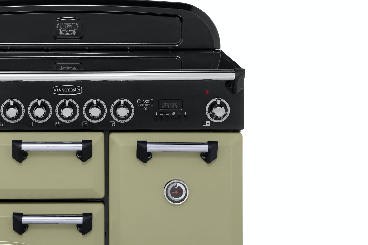 Rangemaster Classic 90cm Induction Range Cooker | CDL90EIOG/C | Olive Green