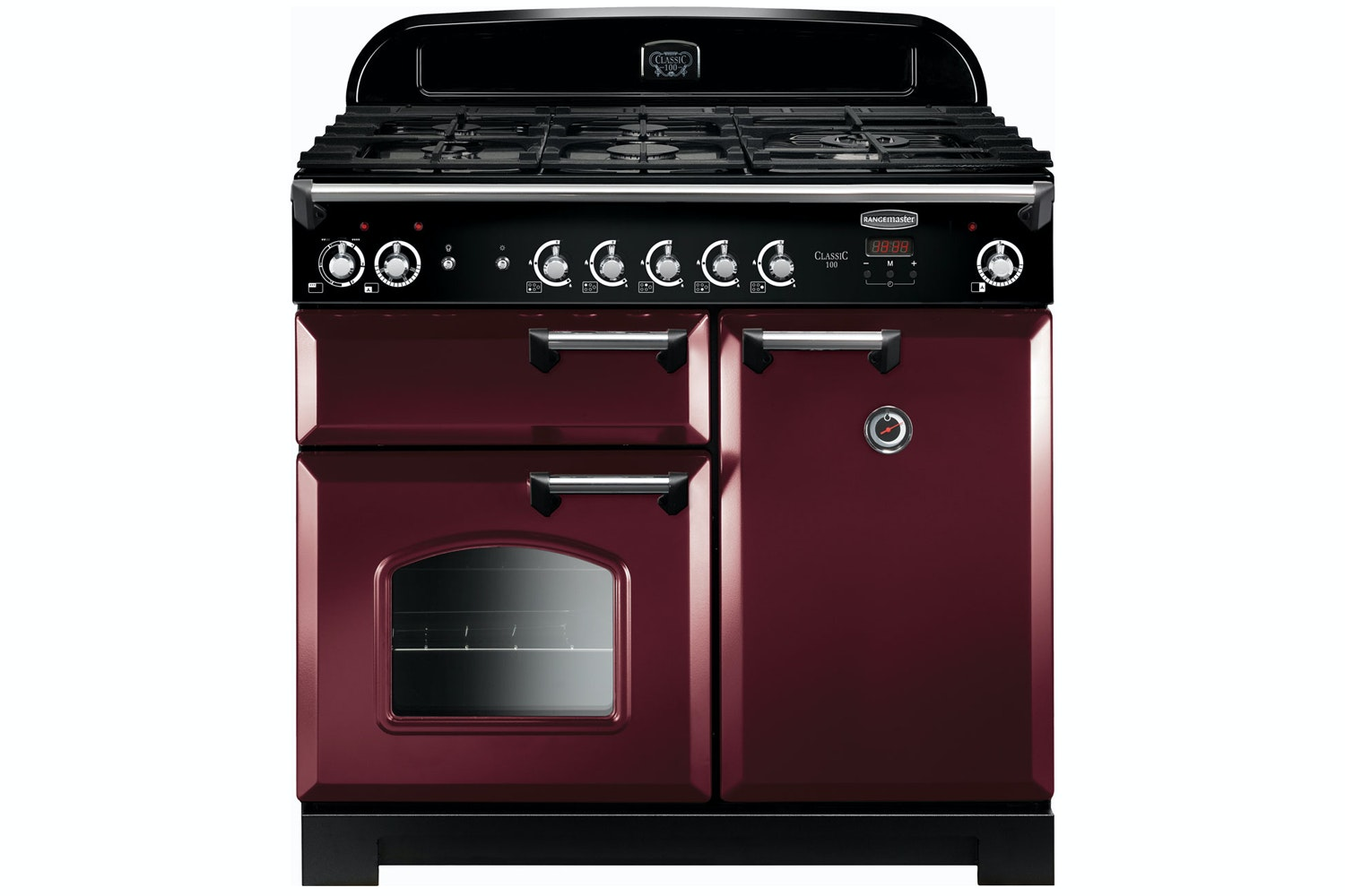 Rangemaster Classic 100cm Dual Fuel Range Cooker | CLA100DFFCY/C | Cranberry