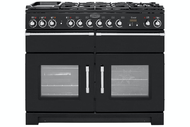 Rangemaster Excel 110cm Dual Fuel Range Cooker | EXL110DFFBL/C | Black
