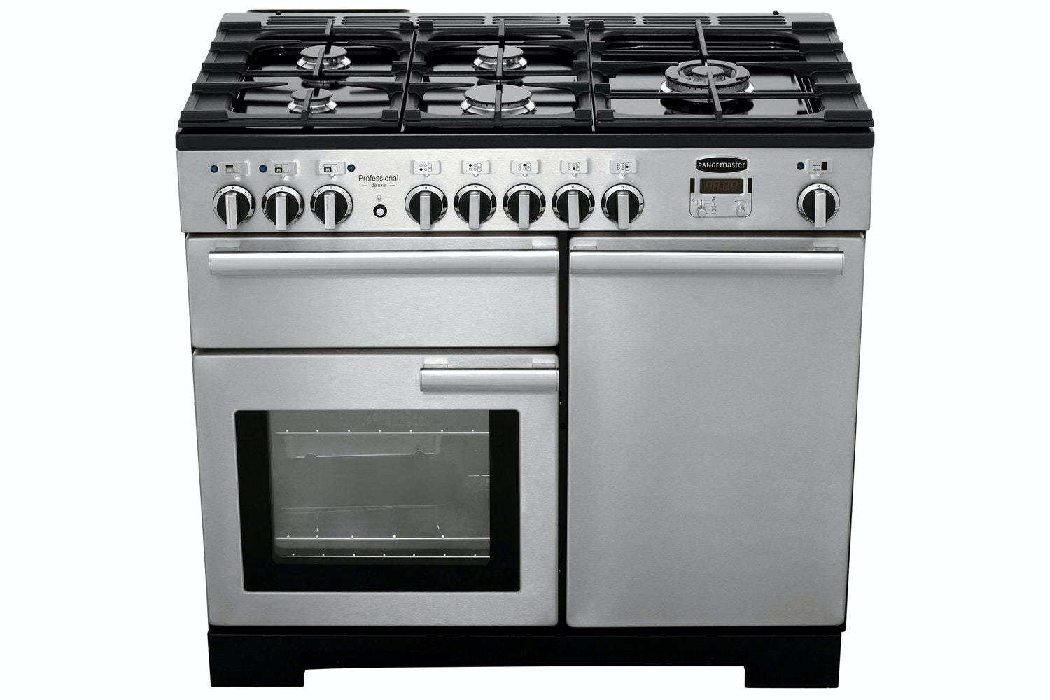 Rangemaster Professional Deluxe 100cm Dual Fuel Range Cooker | PDL100DFFSS/C | Stainless Steel