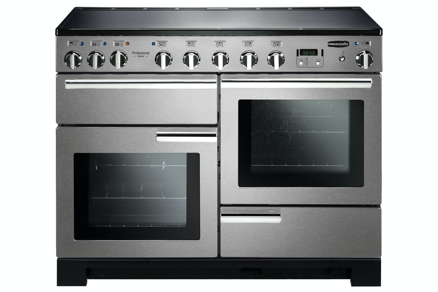 Rangemaster Professional Deluxe 110cm Electric Range Cooker | PDL110EISS/C | Stainless Steel