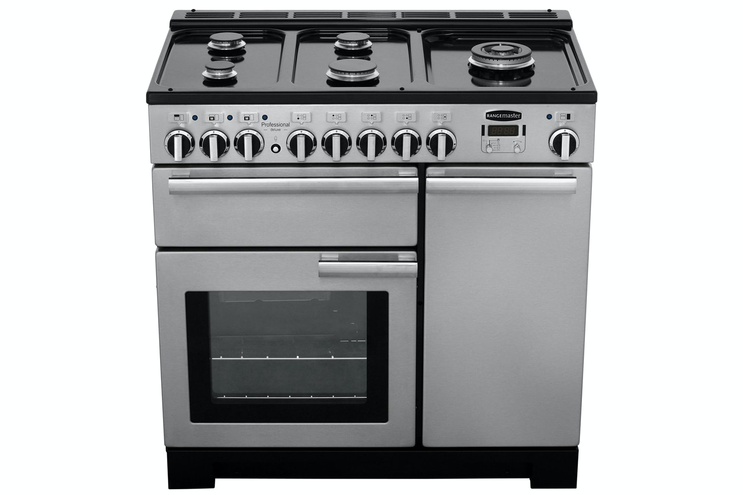 Rangemaster Professional Deluxe 90cm Dual Fuel Range Cooker | PDL90DFFSS/C | Stainless Steel