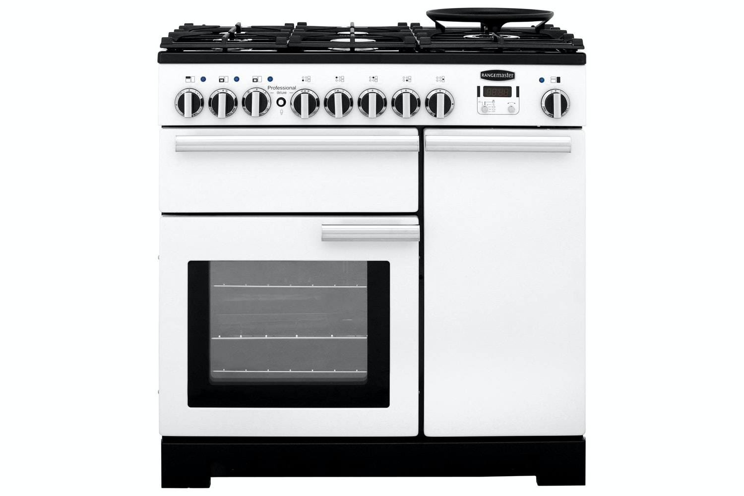 Rangemaster Professional Deluxe 90cm Dual Fuel Range Cooker | PDL90DFFWH/C | White