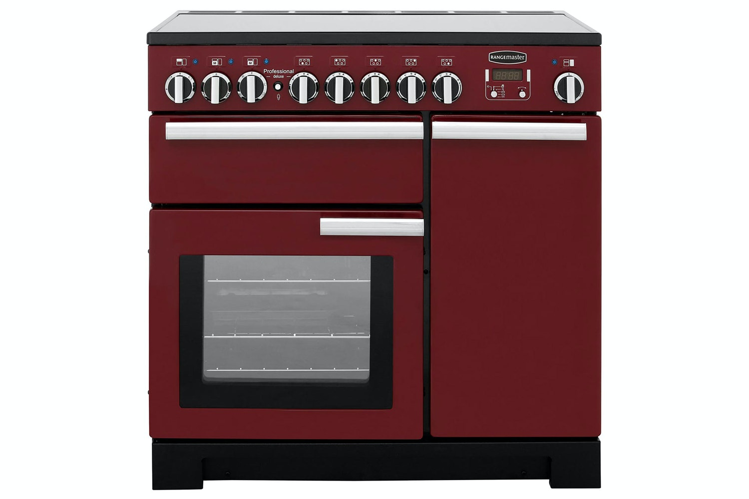 Rangemaster Professional Deluxe 90cm Electric Range Cooker | PDL90EICY/C | Cranberry