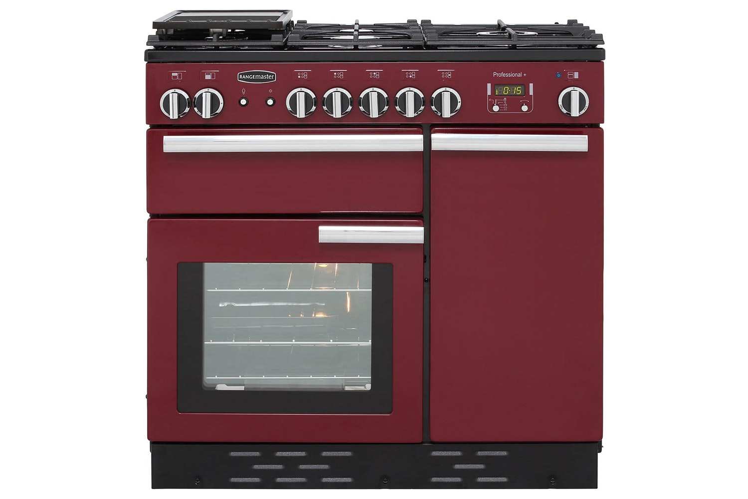 Rangemaster Professional Plus 90cm Gas Range Cooker | PROP90NGFCY/C | Cranberry