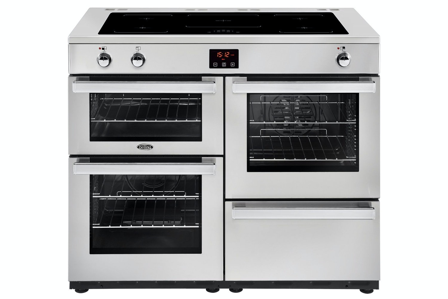 Belling Cookcenter 100cm Induction Range Cooker | 100EIPROFSTA | Stainless Steel