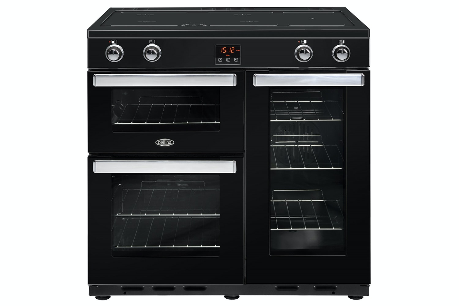 Belling Cookcenter 90cm Induction Range Cooker | 90EIBLK | Black