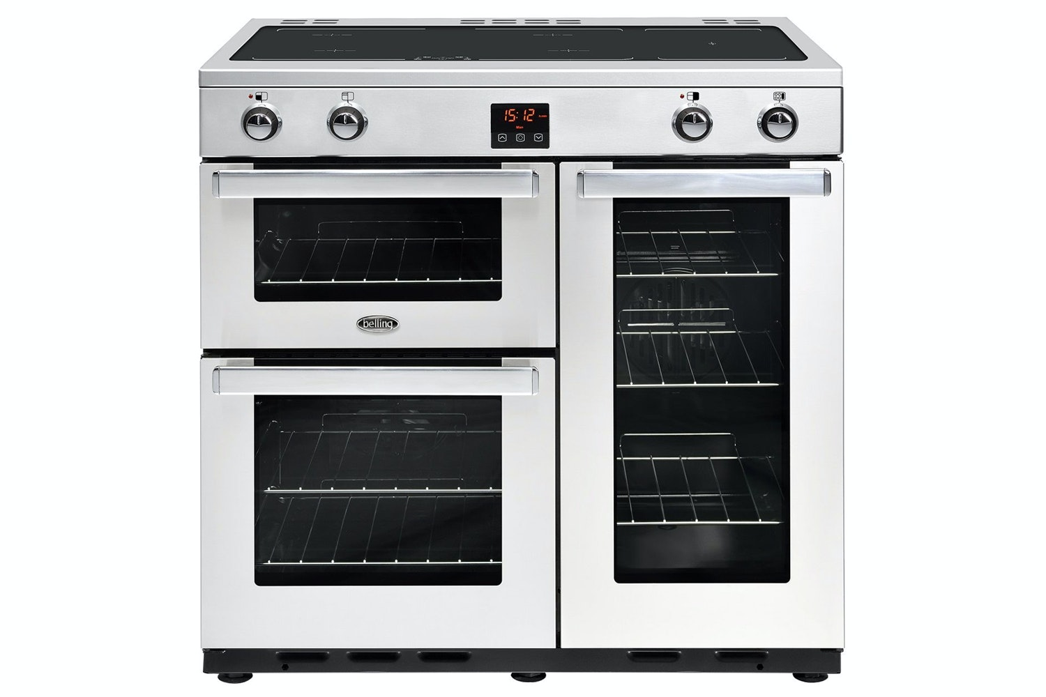 Belling Cookcenter 90cm Induction Range Cooker | 90EIPROFSTA | Stainless Steel