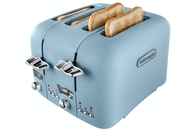 Delonghi Argento Flora 4 Slice Toaster   CT04AZ   Blue