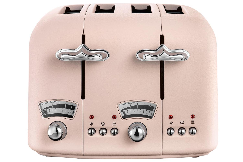 Delonghi Argento Flora 4 Slice Toaster | CT04PK | Pink