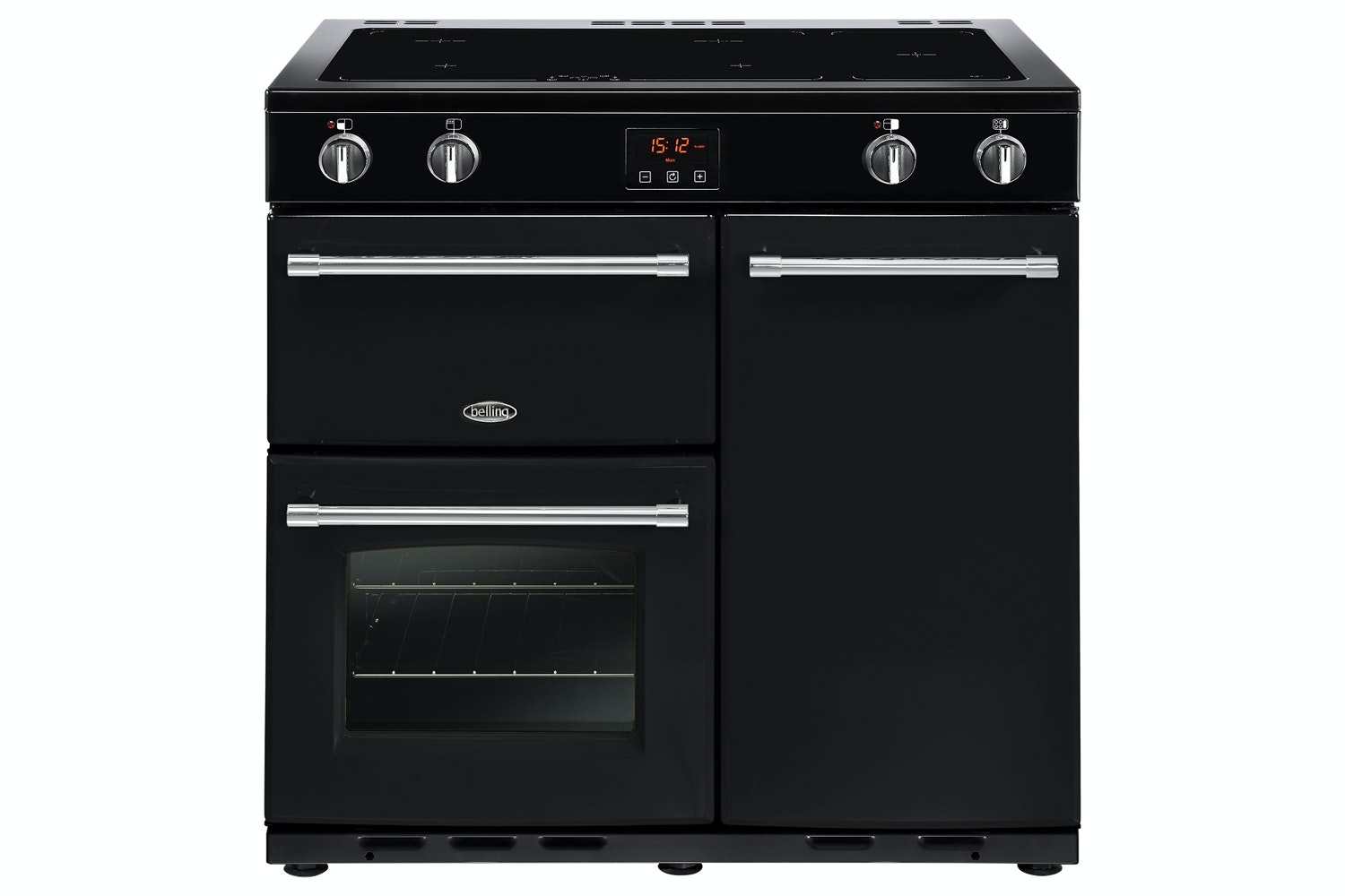 Belling Farmhouse 90cm Induction Range Cooker | FH90EIBLK | Black