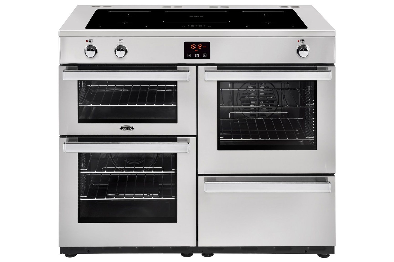 Belling Cookcentre 110cm Induction Range Cooker | 110EIPROFSTA | Stainless Steel