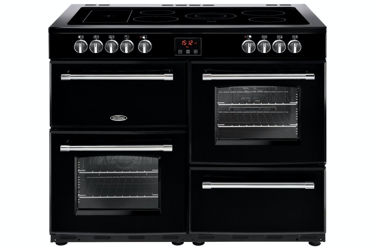 Belling Farmhouse 110cm Induction Range Cooker | FH110EBK | Black
