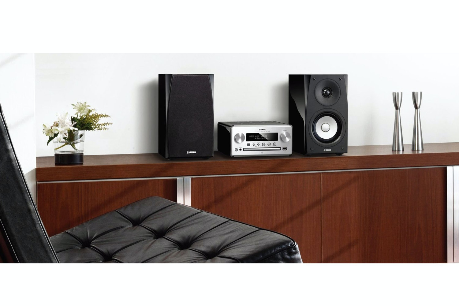 Yamaha NS-BP182 Bookshelf Speaker | Piano Black