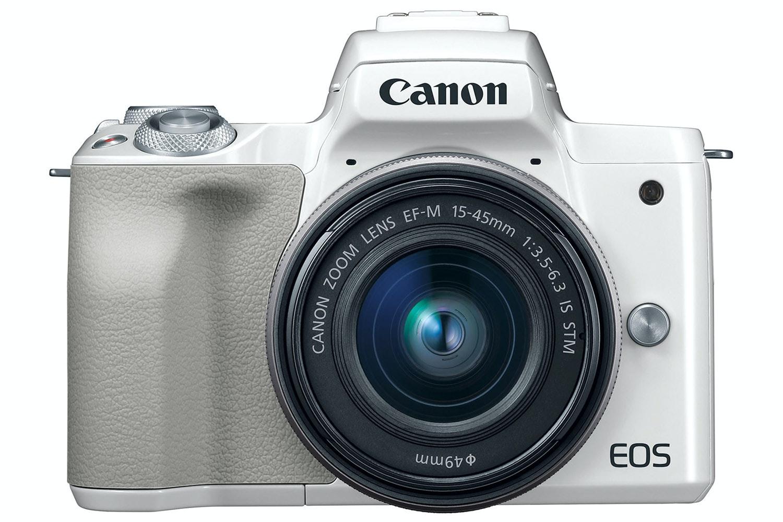 Canon EOS M50 White & 15-45mm IS STM Lens
