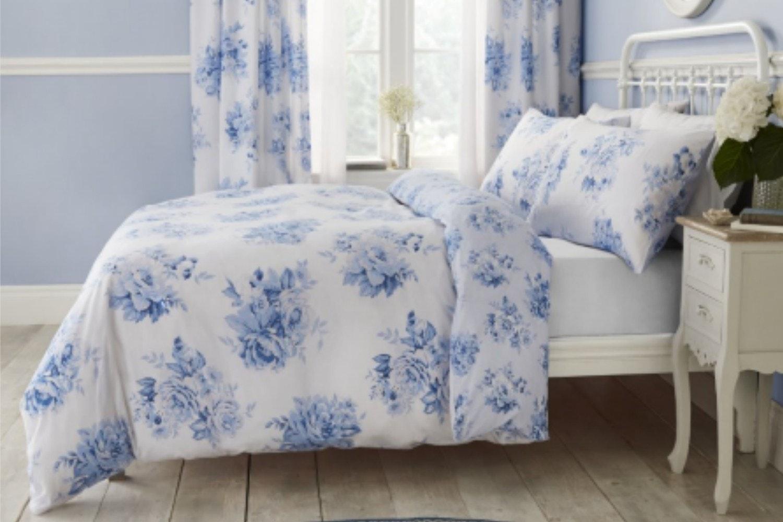 Canterbury Floral Blue Bedspread