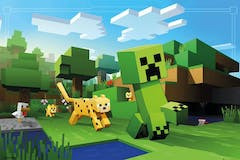 Beaumex Minecraft Ocelot Chase Wall Poster