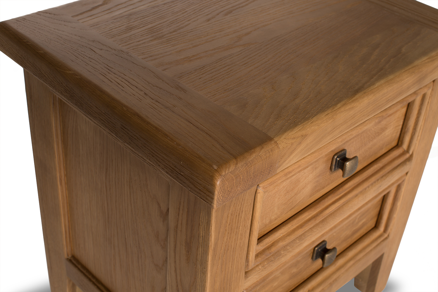 Tisbury Lamp Table with Drawers | Oak