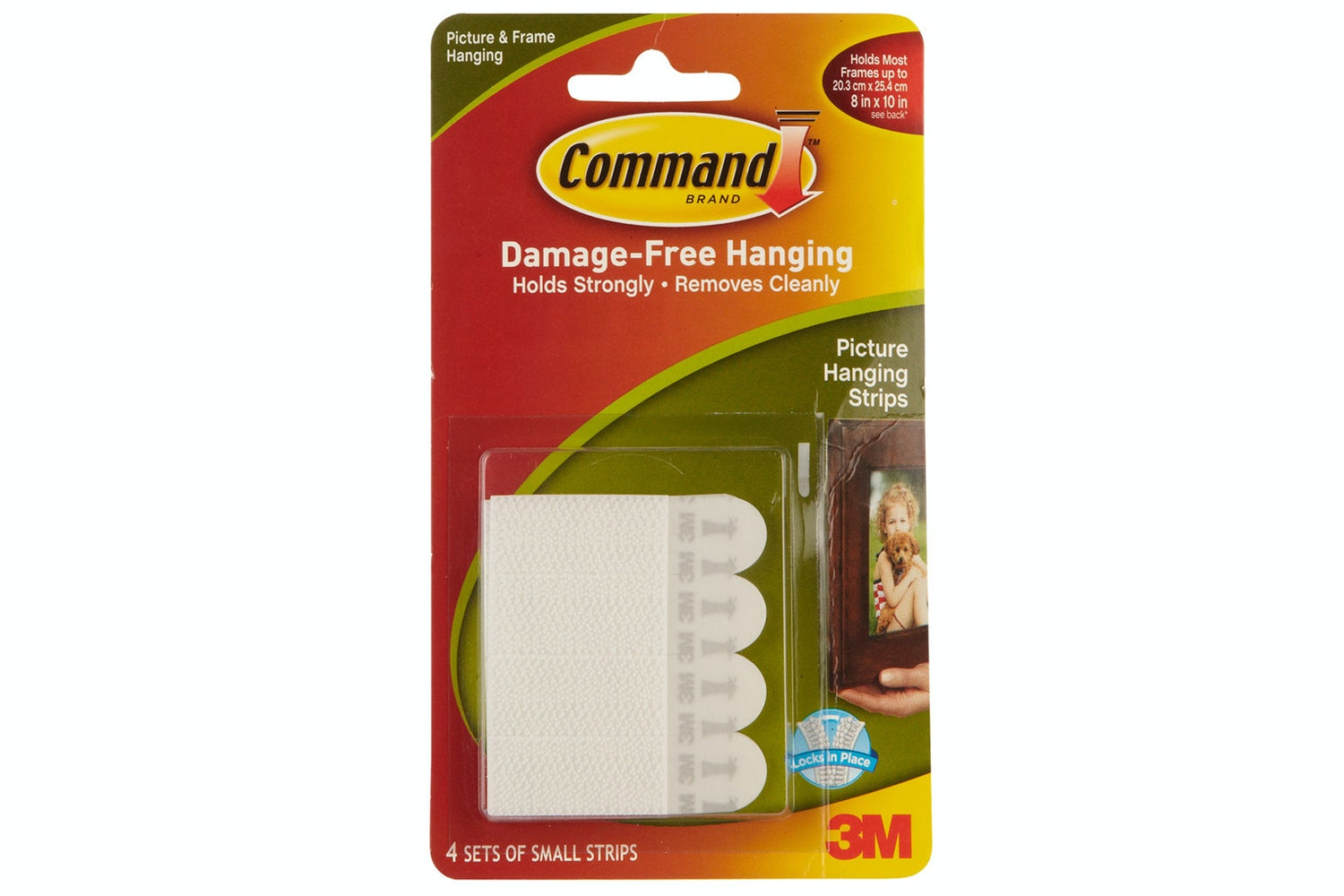 3M Command 4 Sets Small Picture Hanging Strips | White