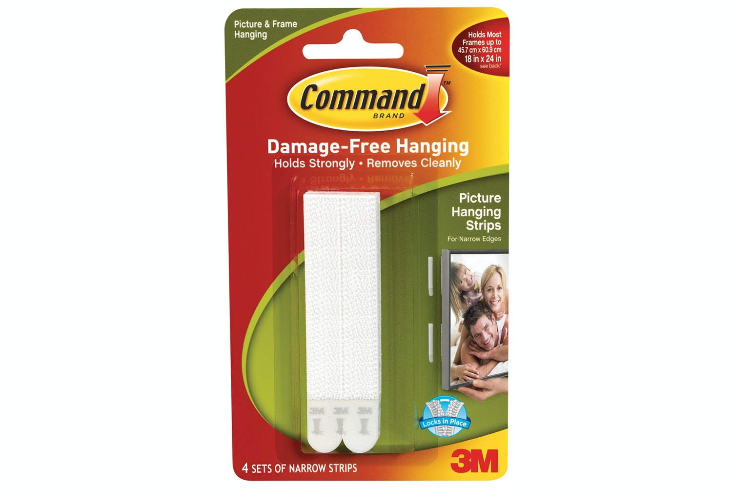3M Command 4 Sets Narrow Picture Hanging Strips | White