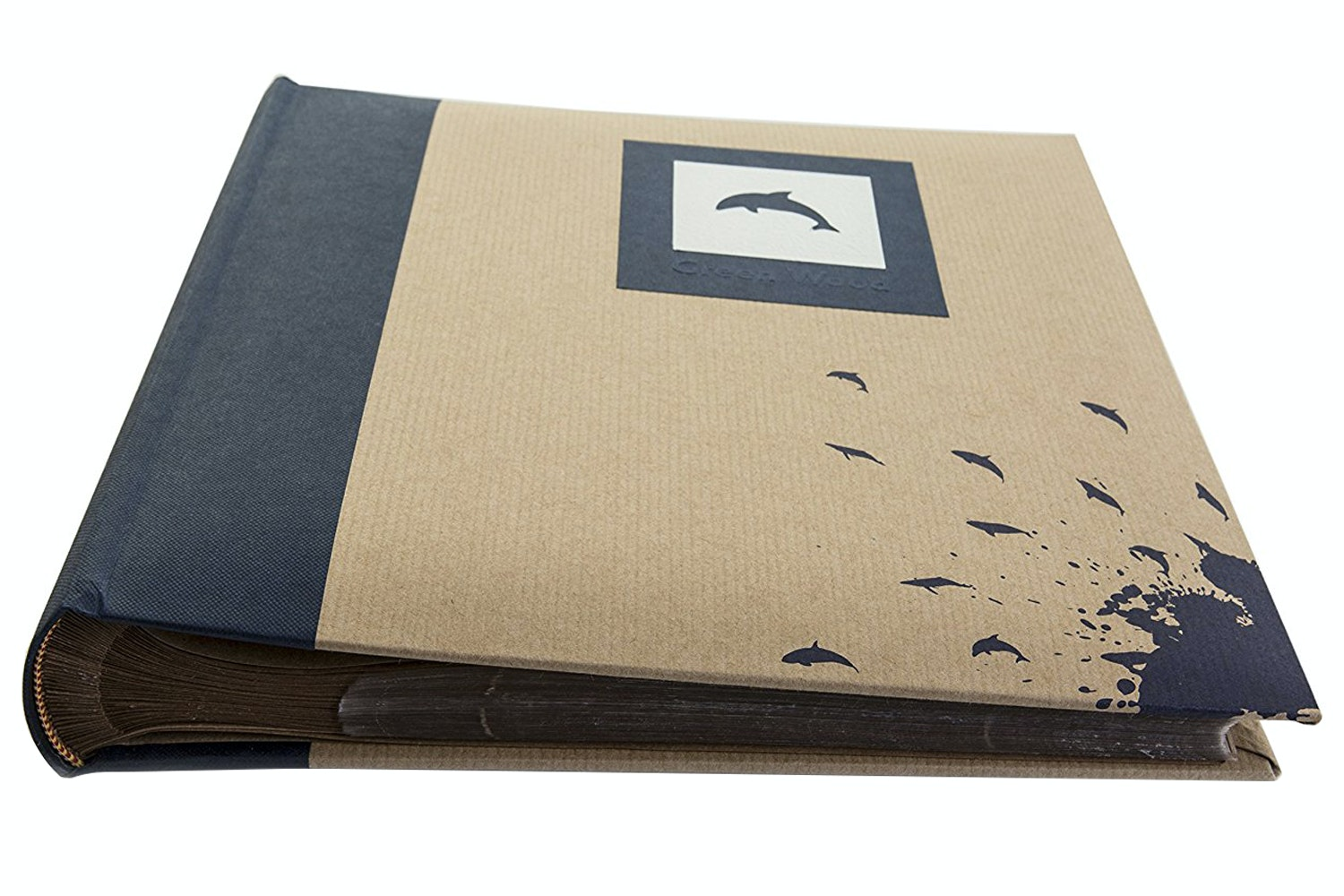 "Kenro Green Wood Dolphin 6x4"" Photo Album 