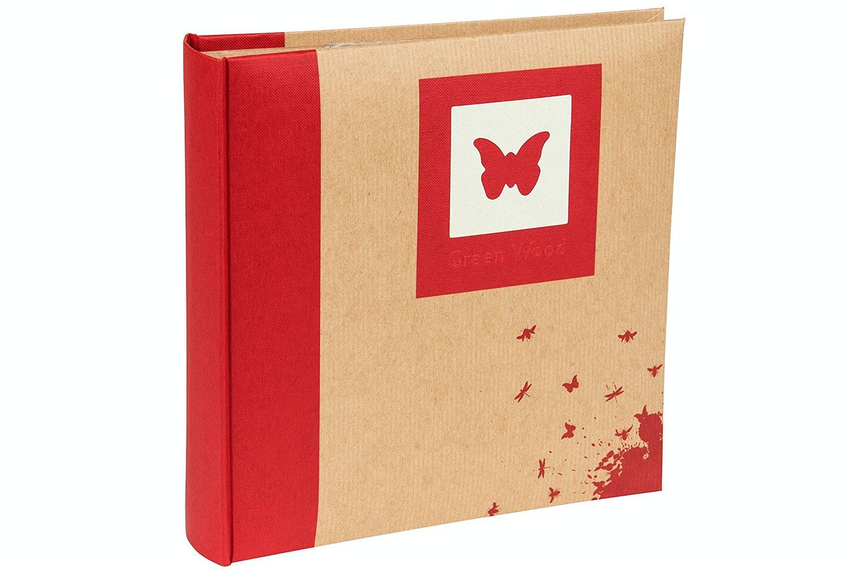 "Kenro Green Wood Butterfly 200 Photo Album   7x5"""