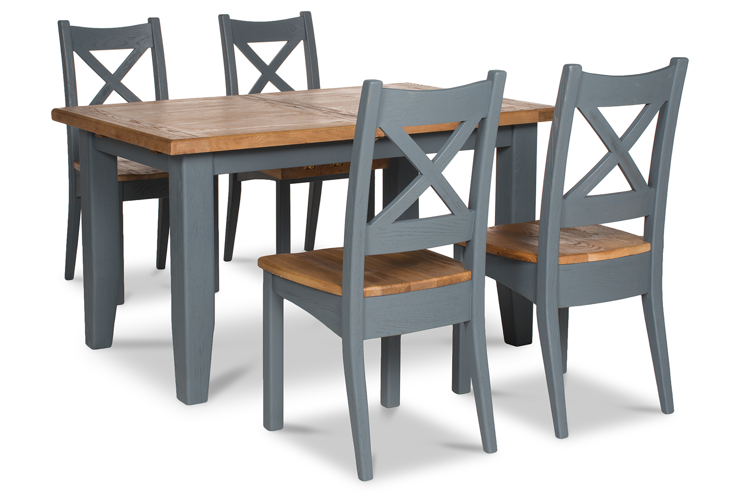 Tisbury Dining Set | 5 Piece | Night Grey | 140cm